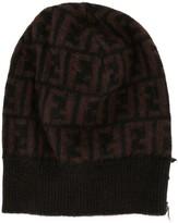 Fendi Pre Owned Zucca pattern beanie