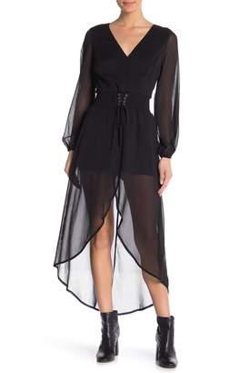 Material Girl Sheer Corset Walk-Through Dress
