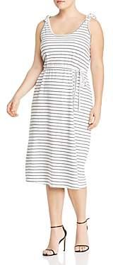 Junarose Plus Marbelle Striped Midi Dress
