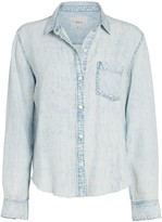 Rails Ingrid Raw Hem Button Down Shirt