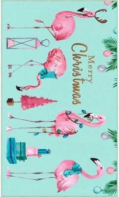 Flamingos The Holiday Aisle Triplett Merry Area Rug The Holiday Aisle
