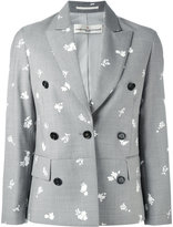 Golden Goose Deluxe Brand printed blazer - women - Polyester/Acetate/Virgin Wool - S