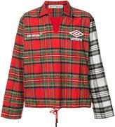Off-White plaid pattern sport jacket