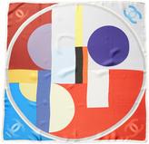 Chanel Multicolor Printed Silk Scarf