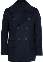 Burberry Double-breasted Virgin Wool Peacoat - Navy