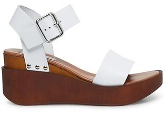 Steven by Steve Madden Torie Leather Wedge Sandals