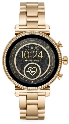 Michael Kors Access Sofie Heart Rate Goldtone Stainless Steel Bracelet Smartwatch