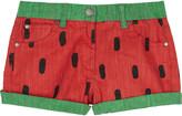 Stella McCartney Hulag watermelon cotton shorts 4-14 years