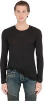 Balmain Linen Long Sleeve T-Shirt