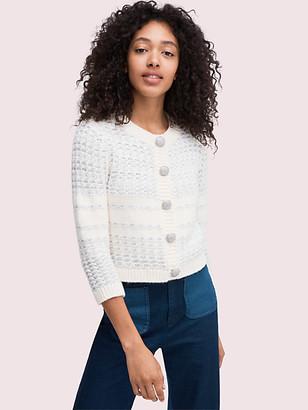 Kate Spade Jewel Button Texture Cardigan