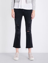 J Brand Selena skinny-bootcut mid-rise cropped jeans