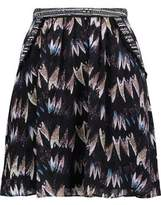 Diane von Furstenberg Marisa Pleated Silk-Jacquard Mini Skirt