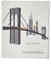 Lucky Jade Brooklyn Bridge Cotton-Cashmere Baby Blanket