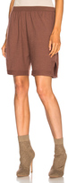 Rick Owens Cashmere Boxer in Brown.