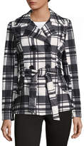 Joujou Jou Jou Belted Plaid Fashion Coat-Juniors