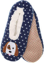K. Bell Women's Puppy Women's's Slipper Socks -Navy