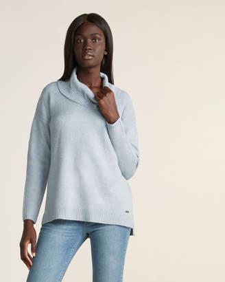 Calvin Klein Long Sleeve Drop Shoulder Cowl Neck Sweater