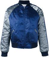 Comme Des Garçons Shirt Boys - metallic bomber jacket - men - Nylon/Polyester/Wool - L