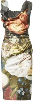 Vivienne Westwood Floral Printed Slim Dress