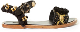 Dolce & Gabbana Pompom-embellished leather sandals
