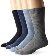 Tommy Hilfiger Men's 4 Pack Basic Casual Crew Sock