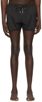 Balmain Black Embossed Swim Shorts