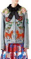 Gucci Studded & Embroidered Denim Jacket