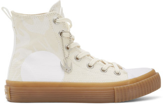 McQ Beige Swallow Plimsoll High-Top Sneakers