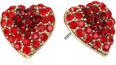 Yochi Stone Burst Heart Earrings