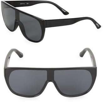 Junia Pow Flat-Top Shield Sunglasses