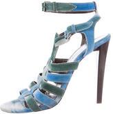 Balenciaga Tie-Dye Suede Sandals