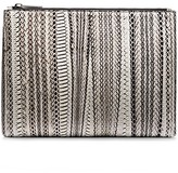 Calvin Klein Collection Water Snake Large Pouch