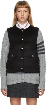 Thom Browne Black Downfill Snap Vest