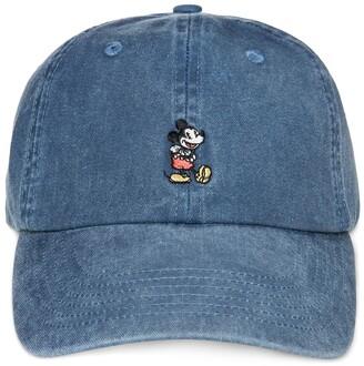 Disney Mickey Mouse Denim Baseball Cap for Adults