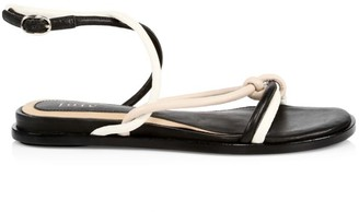 Joie Eleny Knotted Colorblock Leather Sandals