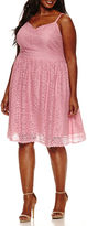 Boutique + Ashley Nell Tipton for + Sleeveless Crochet Fit & Flare Dress-Plus