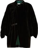 Toga Contrast-trim velvet jacket