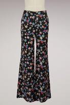 Paul & Joe Silk printed flowers Pintade pants