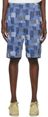 Nonnative Blue Patchwork Manager Shorts