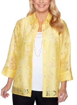 Alfred Dunner Petite Riverside Drive Layered-Look Blouse