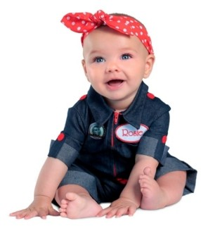 BuySeasons Rosie the Riveter Baby Costume