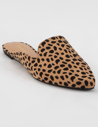 Bamboo Cheetah Womens Mules