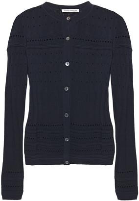 Autumn Cashmere Pointelle-knit Cardigan
