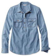 L.L. Bean Signature Denim Popover Shirt