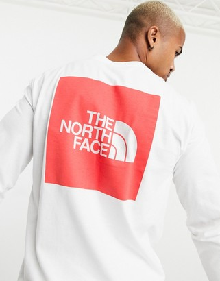 The North Face Red Box long sleeve t-shirt in white