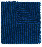 Faliero Sarti striped crinkled scarf