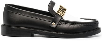 Moschino Colour-Block Leather Loafers