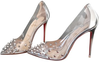 Christian Louboutin Degrastrass Silver Patent leather Heels