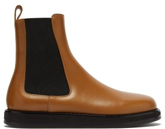 The Row Gaia Leather Chelsea Boots - Tan