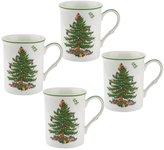 Spode 4-Piece Christmas Tree Mug Set